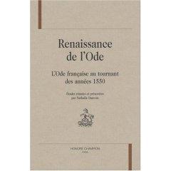 N. Dauvois (dir.), La Renaissance de l'ode