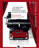 « De l'approche linguistique à la mise en scène du texte de théâtre »