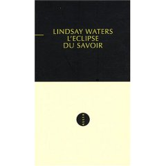 L. Waters, L'Eclipse du savoir