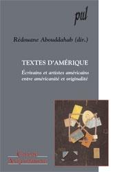 R. Abouddahab, Textes d'Amérique. Ecrivains et artistes américains, entre américanité et originalité