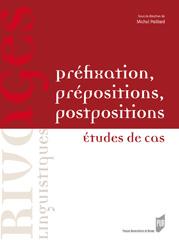 Préfixation, prépositions, postpositions. Études de cas