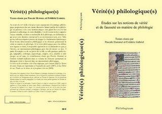 P. Hummel et F. Gabriel (éd.), Vérité(s) philologique(s)