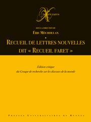 E.Méchoulan (dir.), Recueil de lettres nouvelles dit