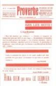 Proverbe, revue dadaïste 1920-1921