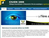 Fabula au colloque international «l'Université à l'ère du numérique» (CIUEN 2008)