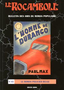Le Rocambole n°45: Le roman policier belge.