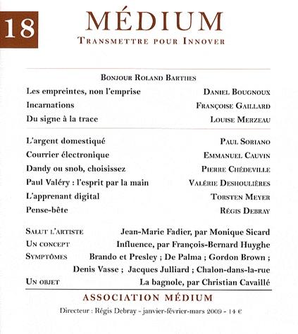 Médium n° 18.
