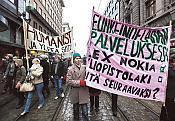 Manifestations contre la réforme de l'Université en Finlande
