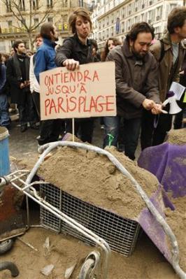 Manifestation à Paris le 08/04/09 -