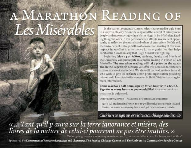 Lecture-Marathon des Miserables