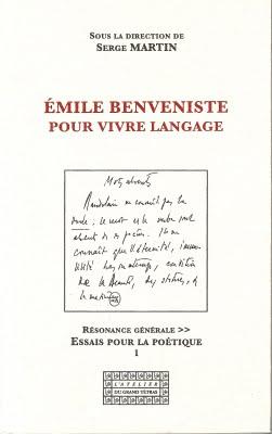 S. Martin (dir.) Émile Benveniste pour vivre langage