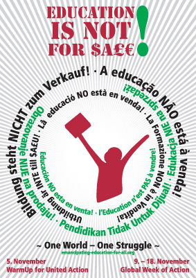 Education is not for sale / Bildungsstreik (màj janvier 2010)