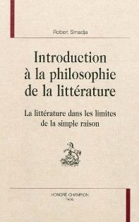 R. Smadja, Introduction à la philosophie de la littérature