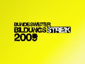 2009: <em>Bildungsstreik </em>- Communiqué de l'alliance locale de la grève éducative à Heidelberg.