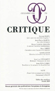 Critique n°751