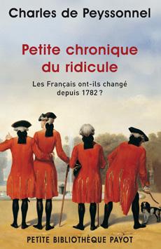 C. de Peyssonnel, Petite chronique du ridicule