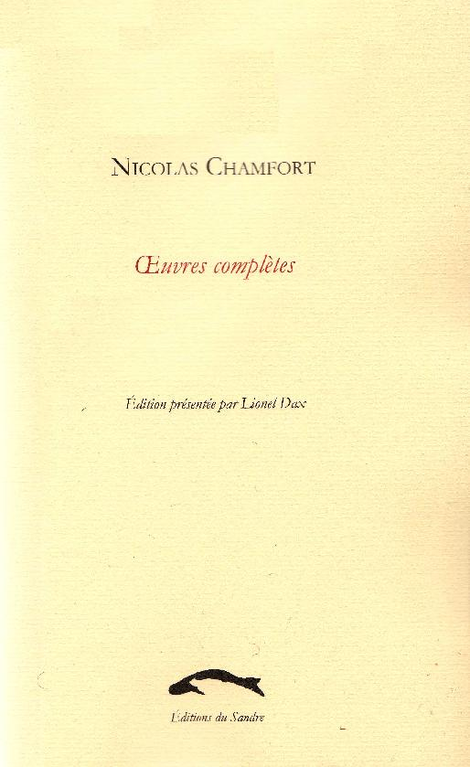 N. Chamfort, Oeuvres complètes