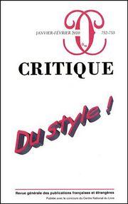 Critique, n° 752-753,