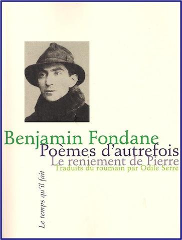 B. Fondane, Poèmes d'autrefois. Le Reniement de pierre.