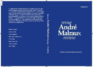 Revue André Malraux Review, n°37 : Numéro spécial Quarantenaire