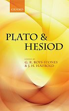 G.R. Boys-Stones and J.H. Haubold (dir.), Plato and Hesiod