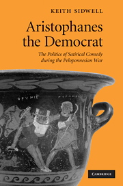 K. Sidwell, Aristophanes the democrat: the politics of satirical comedy during the Peloponnesian War