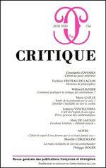 Critique n° 756