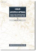 Analisi Linguistica e Letteraria, 2, 2007