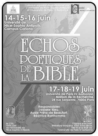 Echos poétiques de la Bible (Paris)