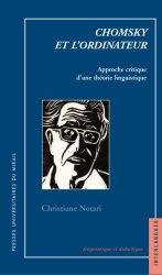 Chr. Notari, Chomsky et l'ordinateur, Approche critique d'une théorie linguistique