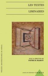 P. Marot (dir.), Les Textes liminaires