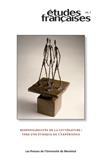 Études françaises, vol. 46, n°1, 2010: Responsabilités de la littérature : vers une éthique de l'expérience