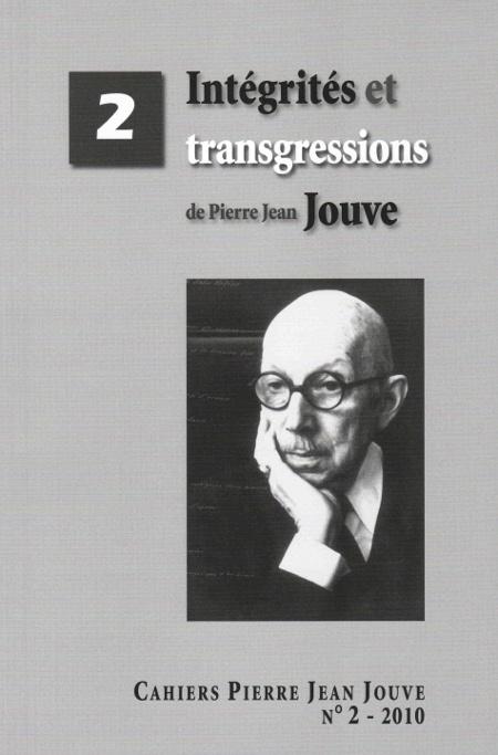 Cahiers Pierre Jean Jouve, 2-2010 :