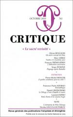 Critique, n°761 :