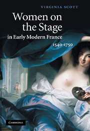 V. Scott, Women on the Stage in Early Modern France: 1540–1750