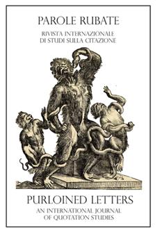 Parole rubate - Purloined Letters, an International Journal of Quotation Studies, n. 1, 2010