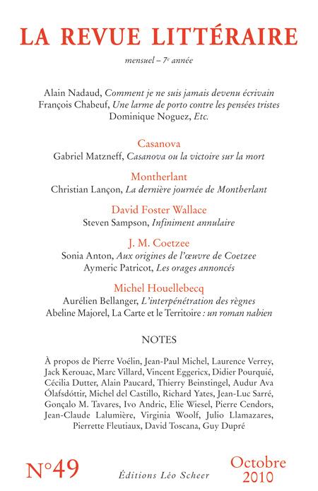 La Revue Littéraire n°49