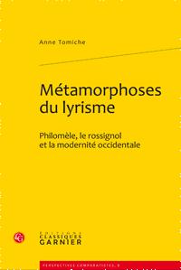 A. Tomiche, Métamorphoses du lyrisme