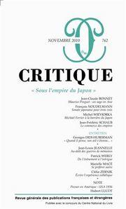 Critique, n°762 :