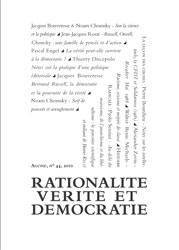 Agone, n°44 : Rationalité, vérité & démocratie
