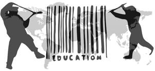 17 novembre 2010: des milliers d'étudiants défilent contre la marchandisation de l'enseignement