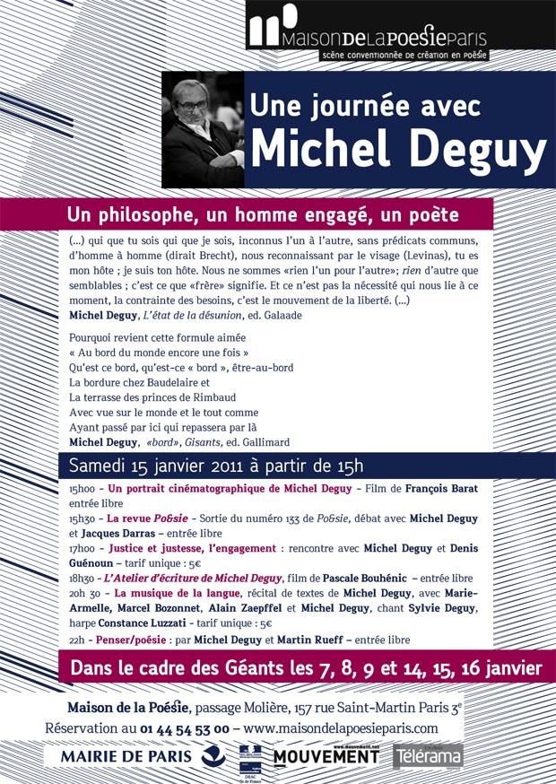 Une journée avec Michel Deguy