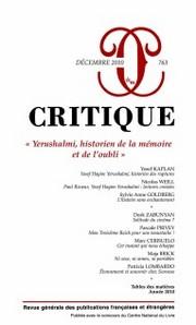 Critique, n° 763 :