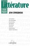 Littérature, n° 161 : Jean Starobinski