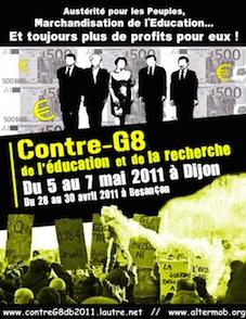 Contre le G8 des universités, à Dijon et à Paris du 5 au 7 mai - Communiqué du collectif d'organisation du contreg8 Education/recherche (30/04/11)