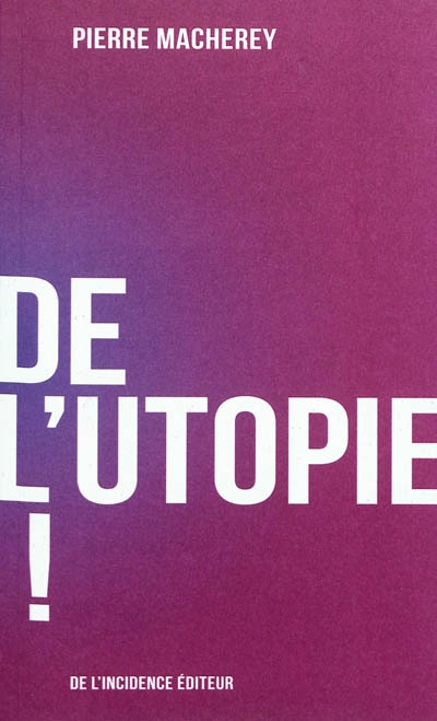 Regard sur l'utopie