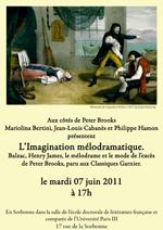 Présentation de L'imagination mélodramatique en présence de Peter Brooks