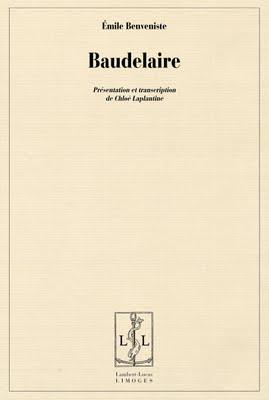 É. Benveniste, Baudelaire