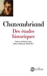 F. R. de Chateaubriand, Des études historiques