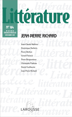 Littérature n°164: Jean-Pierre Richard